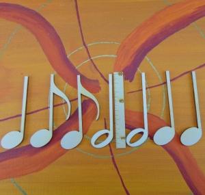 Musikalische Dekoration ★ 7 er Set Noten 8 cm ★ zum Verschenken für ein Jubiläum oder selbst dekorieren  - Handarbeit kaufen