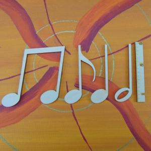 Musikalische Dekoration ★ 4 er Set Noten 8 cm★ zum Verschenken für ein Jubiläum oder selbst dekorieren  - Handarbeit kaufen