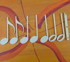 Musikalische Dekoration ★ 7 er Set Noten 10 cm ★ zum Verschenken für ein Jubiläum oder selbst dekorieren  - Handarbeit kaufen