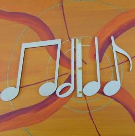 Musikalische Dekoration ★ 4 er Set Noten 10 cm★ zum Verschenken für ein Jubiläum oder selbst dekorieren  - Handarbeit kaufen