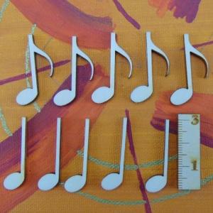 Musikalische Dekoration ★ 10 er Set Noten 32 mm★ zum Verschenken für ein Jubiläum oder selbst dekorieren - Handarbeit kaufen