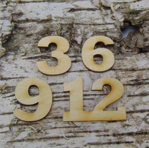 Römische Ziffern oder Zahlen aus Naturholz ★35 mm ★ 3 6 9 12 für Uhren  - Handarbeit kaufen