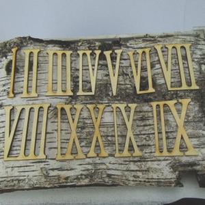 Römische Ziffern oder Zahlen aus Naturholz ★80 mm Schmal ★ 1 -12 für Uhren  - Handarbeit kaufen
