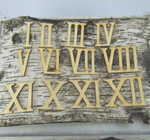 Römische Ziffern oder Zahlen aus Naturholz ★60 mm ★ 1 - 12 für Uhren  IX  - Handarbeit kaufen