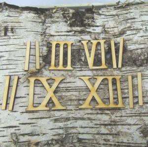 Römische Ziffern oder Zahlen aus Naturholz ★50 mm Höhe ★ 3 6 9 12 plus 8 striche  für Uhren  - Handarbeit kaufen