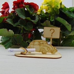 ♥ Geldgeschenk ♥ Oldtimer aus Holz Gutscheingeschenk mit Ortsschild gravierter Spruch Fragezeichen oder Ihr Wunschtext Personalisierung - Handarbeit kaufen