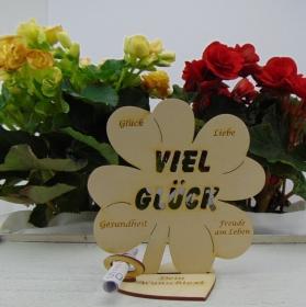Geldgeschenkset ♥ Kleeblatt 16 cm ♥ Viel Glück ♥ mit Personalisierung - Handarbeit kaufen