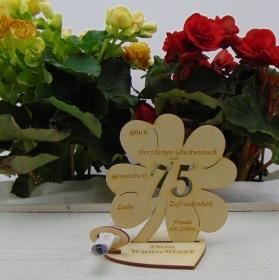 Geldgeschenkset ♥ Kleeblatt 11,7 cm ♥ Herzlichen Glückwunsch zum 80. ♥ mit Personalisierung - Handarbeit kaufen