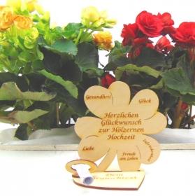 Gutschein oder Geldgeschenk ♥ Herzlichen Glückwunsch zur hölzernen Hochzeit ♥ mit Personalisierung - Handarbeit kaufen