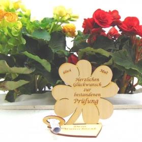 Geldgeschenkset ♥ Kleeblatt 11,7 cm ♥ Herzlichen Glückwunsch zur bestandenen Prüfung ♥ mit Personalisierung - Handarbeit kaufen