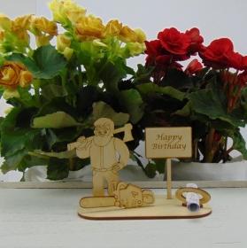 Geldgeschenkset ♥  Holzfäller ♥ Happy Birthday ♥ für Männer ♥ Personalisierung möglich - Handarbeit kaufen