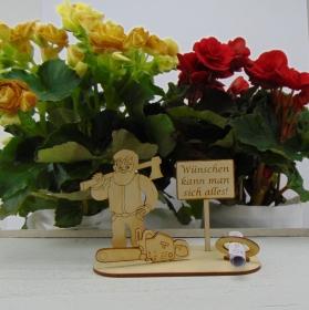 Geldgeschenkset ♥  Holzfäller ♥ Wünschen kann man sich alles. ♥ für Männer ♥ Personalisierung möglich - Handarbeit kaufen