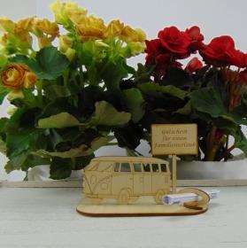 Geld- oder Gutscheingeschenkset ★ Reisebus ★ Gutschein für ein Familienurlaub ★  für Männer als Geburtstagsgeschenk ★ Personalisierung möglich - Handarbeit kaufen
