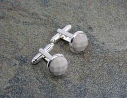 Facettierte Manschettenknöpfe aus Beton - unisex -