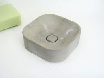 Handgefertigte Beton Seifenschale - dezent marmoriert - Seifenablage - Schwammablage -