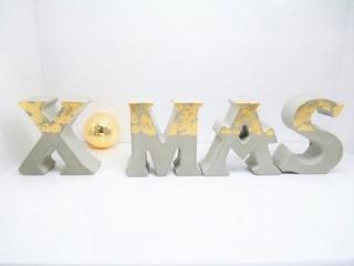 XMAS Betondeko - Buchstaben - weihnachtliche Dekoration - handgegossen