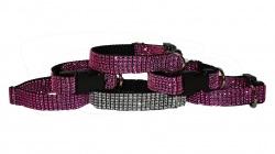Hundehalsband Strass Größe L Breite 40mm verschiedene Farben