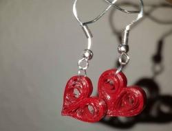 Handgemacht Herz Ohrringe