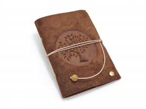 Lederbuch Tagebuch Notizbuch - Travel Memory Life Tree Bamby A6 - 100 Seiten - Vickys World - Kostenloser Versand - Handarbeit kaufen