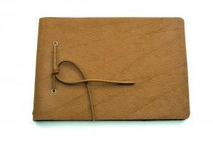 Lederbuch Tagebuch Notizbuch Skizzenbuch Gästebuch - Buffalo Sketch Caramel - A5 - 200 Seiten - Vickys World - Kostenloser Versand - Handarbeit kaufen