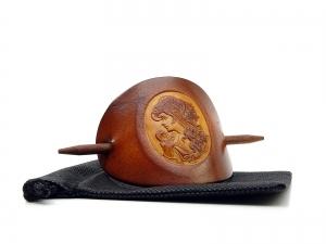 Haarspange Leder - OX Antique Cameo Anna - Vickys World - Kostenloser Versand - Handarbeit kaufen