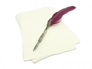 Handgeschöpftes Papier DIN A5 - 10 Bögen - Wilder Rand - Preis je Bogen 0,995 EUR - Kostenloser Versand - Handarbeit kaufen