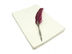 Handgeschöpftes Papier DIN A4 - 25 Bögen - Wilder Rand - Preis je Bogen 1,038 EUR - Kostenloser Versand - Handarbeit kaufen
