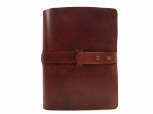 Leder Ringbuch Ordner OX Office Bonny Maroon A4  - Vickys World - Kostenloser Versand - Handarbeit kaufen