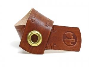 Leder Lineal Maßband mit 20 Zentimeter OX RAW RULER Browny - Vickys World - Kostenloser Versand - Handarbeit kaufen