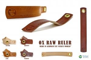 Leder Lineal Maßband mit 20 Zentimeter OX RAW RULER Lion - Vickys World - Kostenloser Versand - Handarbeit kaufen
