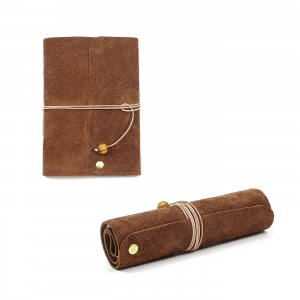Lederbuch Tagebuch Notizbuch - Travel Memory Bamby A6 - 100 Seiten - Vickys World - Kostenloser Versand - Handarbeit kaufen