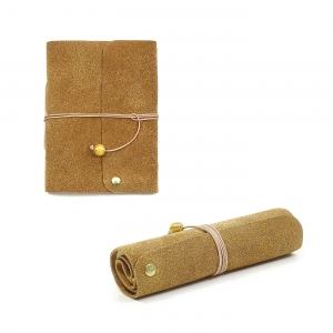 Lederbuch Tagebuch Notizbuch - Travel Memory Caramel A6 - 100 Seiten - Vickys World - Kostenloser Versand - Handarbeit kaufen