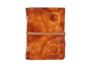Lederbuch Tagebuch Notizbuch - soft OX Circle Scuff - A6 - 400 Seiten  - Vickys World - Kostenloser Versand - Handarbeit kaufen