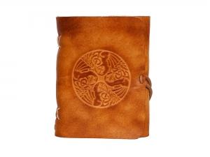 Lederbuch Tagebuch Notizbuch - soft OX Dragons Scuff - A6 - 400 Seiten  - Vickys World - Kostenloser Versand - Handarbeit kaufen