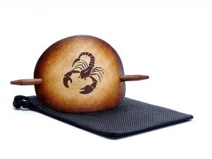 Haarspange Leder - OX Antique Sternzeichen Skorpion - Vickys World - Kostenloser Versand - Handarbeit kaufen