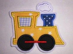 Aufnäher Lok Lokomotive gelb Sterne Applikation