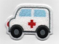 Aufnäher kleiner Krankenwagen Fußbälle Applikation