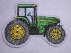 Aufnäher Trecker/Traktor grün-gelb Applikation