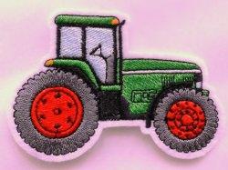 Aufnäher Trecker/Traktor grün-rot Applikation