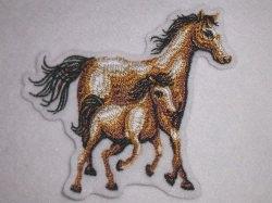 Aufnäher - Pferd mit Fohlen  - Applikation