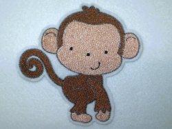 Aufnäher - Affe groß- Applikation