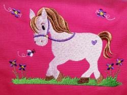 Kindergartentasche - Pferdchen - pink