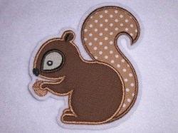 Aufnäher - Eichhörnchen - Applikation