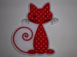 Aufnäher - Katze rot - Applikation
