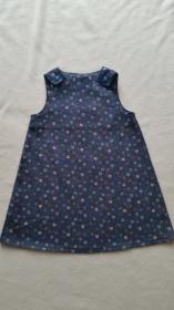 Trägerkleid aus Jeans Gr. 104