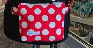 Bauchtasche Dots rot  , auch als Crossbag tragbar, Handmade by la piccola Antonella - Handarbeit kaufen