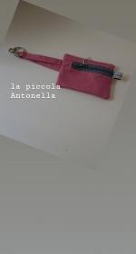 Schlüsseltäschchen , Schlüsseletui rosa mit Karabiner - Handarbeit kaufen
