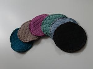 Kosmetikpads , Abschminkpads aus  Baumwolle ,waschbar - wiederverwendbar , 8 cm, Handmade by la piccola Antonella - Handarbeit kaufen
