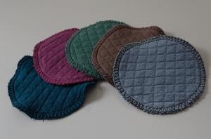 Kosmetikpads , Abschminkpads aus Baumwolle ,waschbar - wiederverwendbar -  10 cm  - Handarbeit kaufen