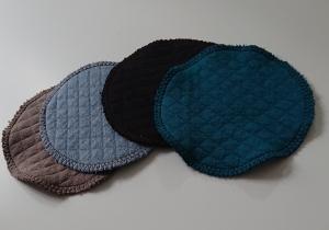 Kosmetikpads , Abschminkpads aus  Baumwolle ,waschbar - wiederverwendbar , 12 cm - Handarbeit kaufen